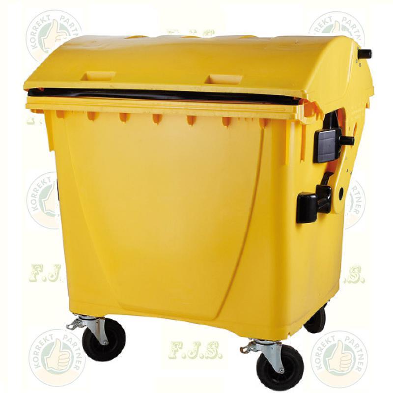 konténer 1100 literes sárga műanyag