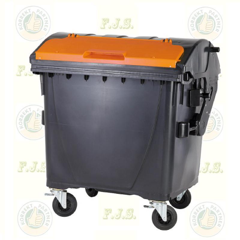 konténer 1100 literes tetrapack műanyag fedél a fedélben kivitel
