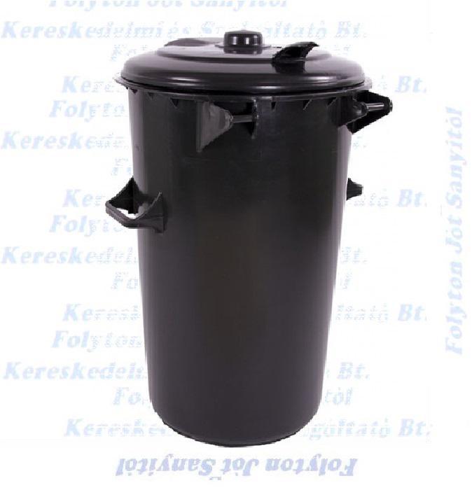 Kuka 110 l. fekete hulladéktároló műanyag 110l kültéri szemetes
