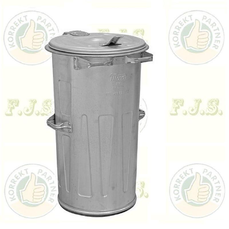 Kuka 110 l horganyzott fém hulladéktároló 110l. kültéri szemetes CE