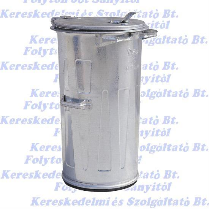 Kuka 110 l horganyzott fém. kültéri szemetes CE