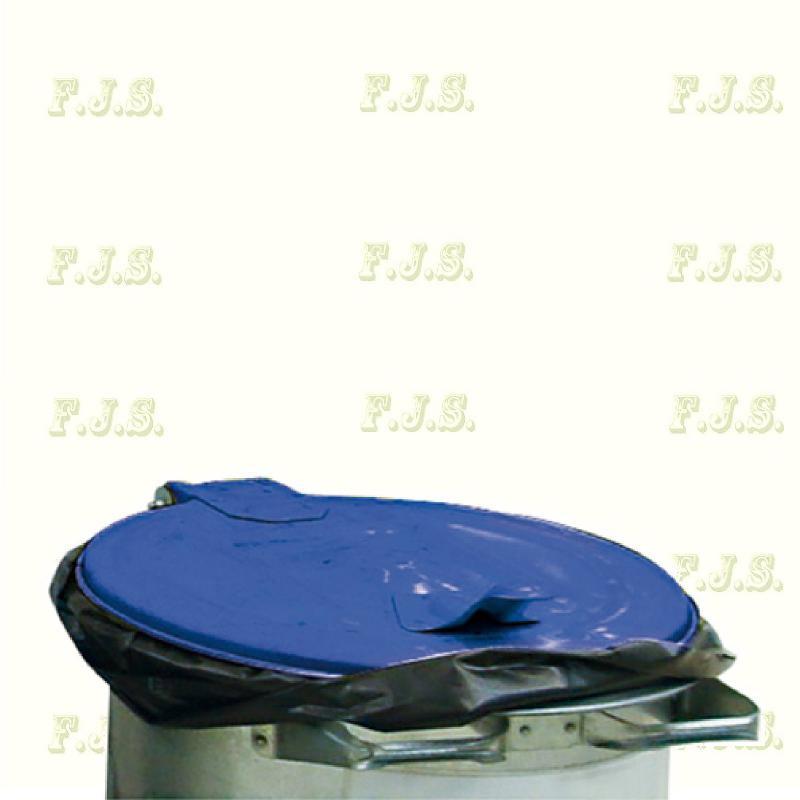Kuka 110 l. szemetes hulladéktároló papírgyűjtő - Kék fedéllel horganyzott