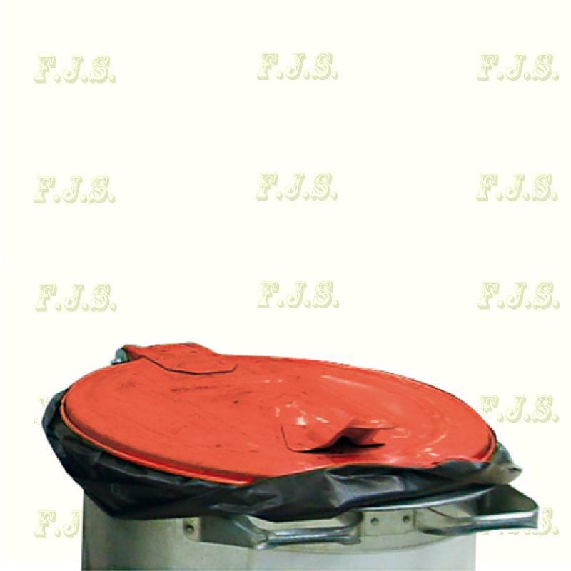 Kuka 110 l. szemetes hulladéktároló - piros fedéllel horganyzott