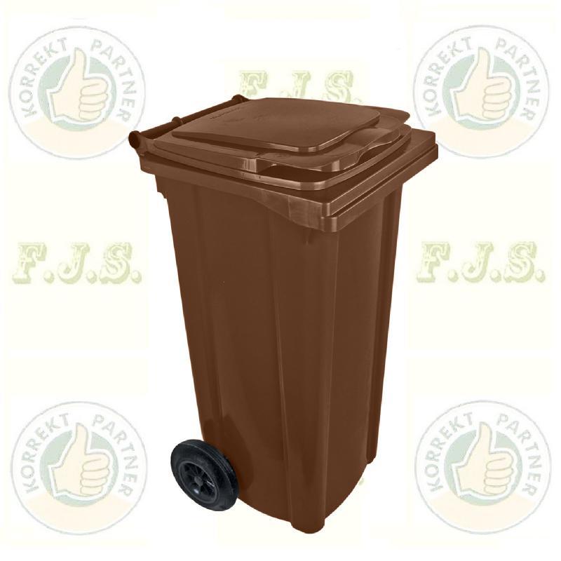 Kuka 120 l. barna hulladéktároló műanyag 120l. CE kültéri szemetes (MUTA)