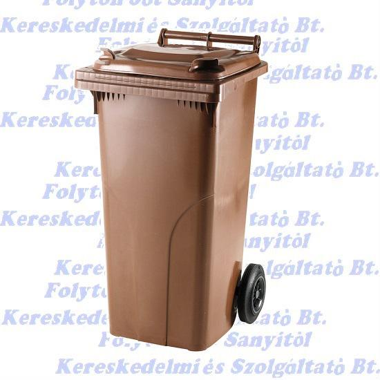 Kuka 120 l. barna hulladéktároló műanyag 120l. kültéri szemetes