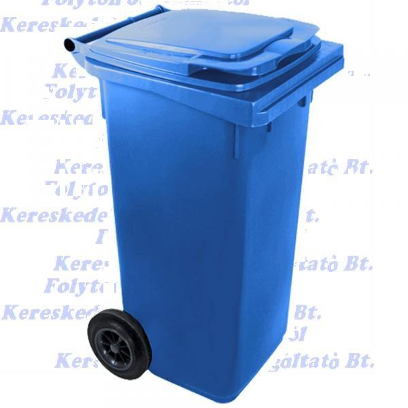 Kuka 120 l. kék hulladéktároló műanyag 120l. CE kültéri szemetes