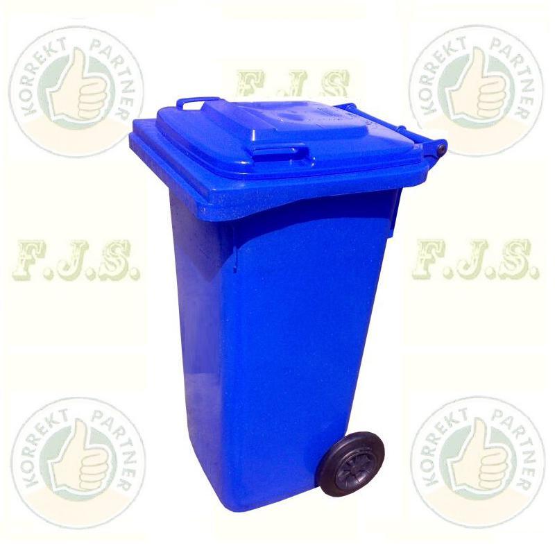 Kuka 120 l. kék hulladéktároló műanyag 120l. CE kültéri szemetes (MUTA)