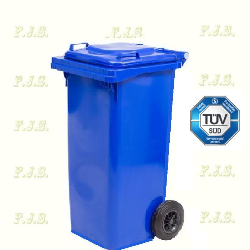 Kuka 120 l. Olasz kék hulladéktároló műanyag 120l. kültéri szemetes