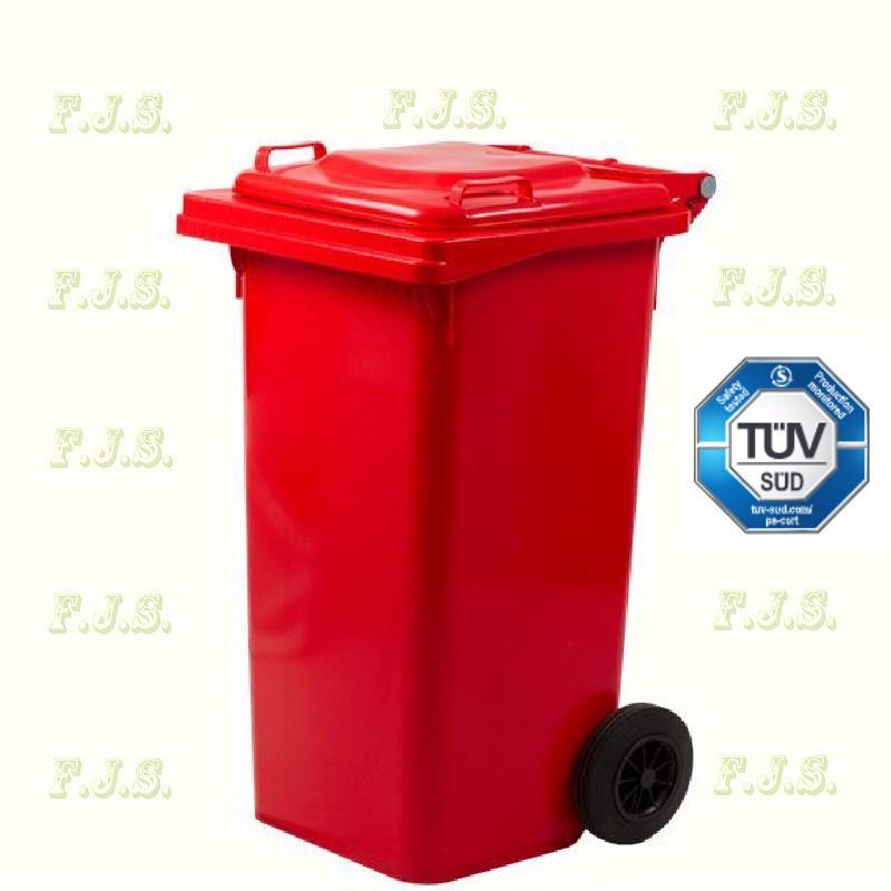 Kuka 120 l. Olasz piros hulladéktároló műanyag 120l. kültéri szemetes