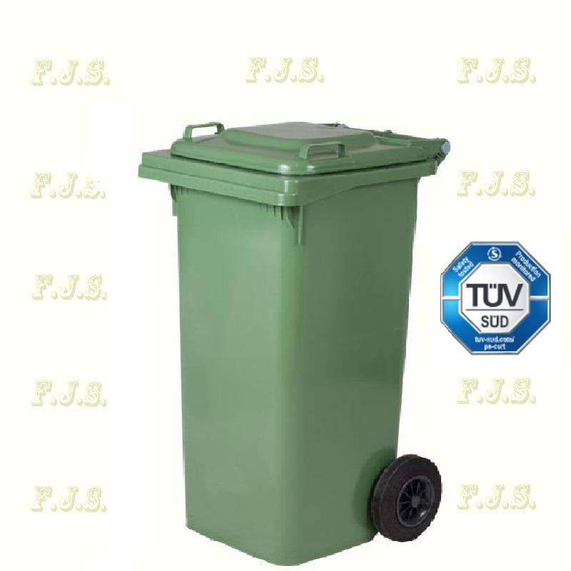 Kuka 120 l. Olasz zöld hulladéktároló műanyag 120l. kültéri szemetes