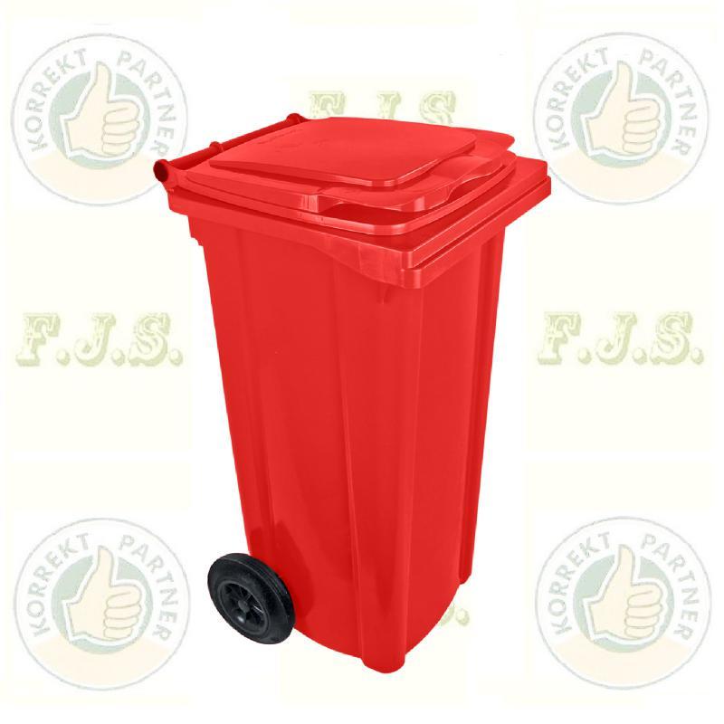 Kuka 120 l. piros hulladéktároló műanyag 120l. CE kültéri