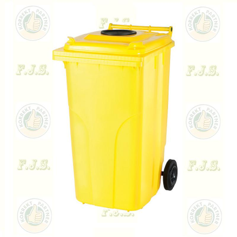 Kuka 120 l. sárga, szelektív műanyag-hulladékgyűjtő CE