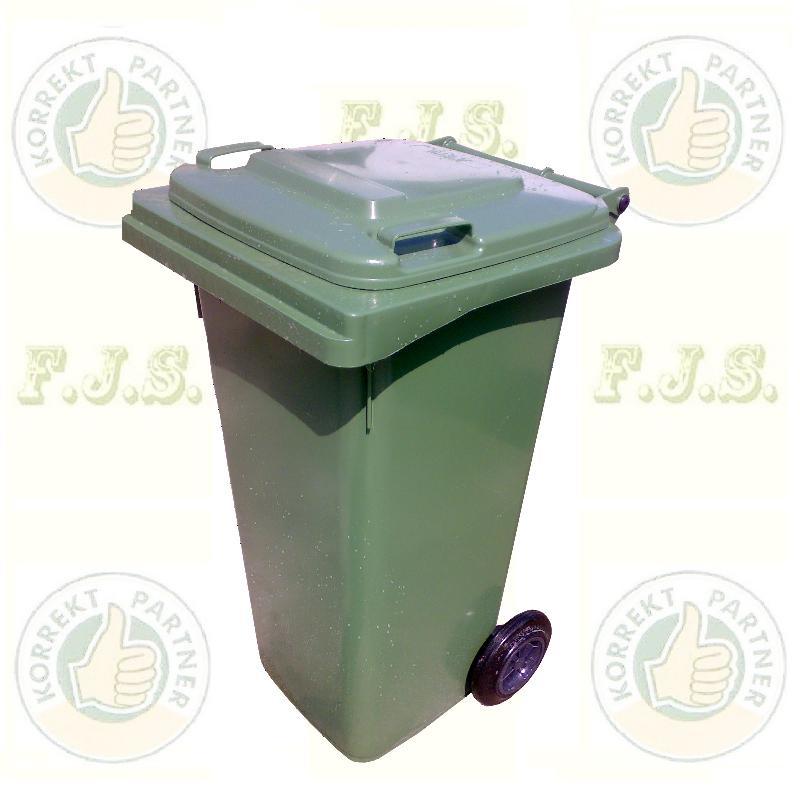 Kuka 120 l. zöld hulladéktároló műanyag 120l. CE kültéri szemetes (MUTA)