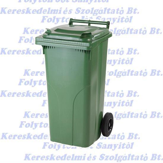 Kuka 120 l. zöld hulladéktároló műanyag 120l. kültéri szemetes
