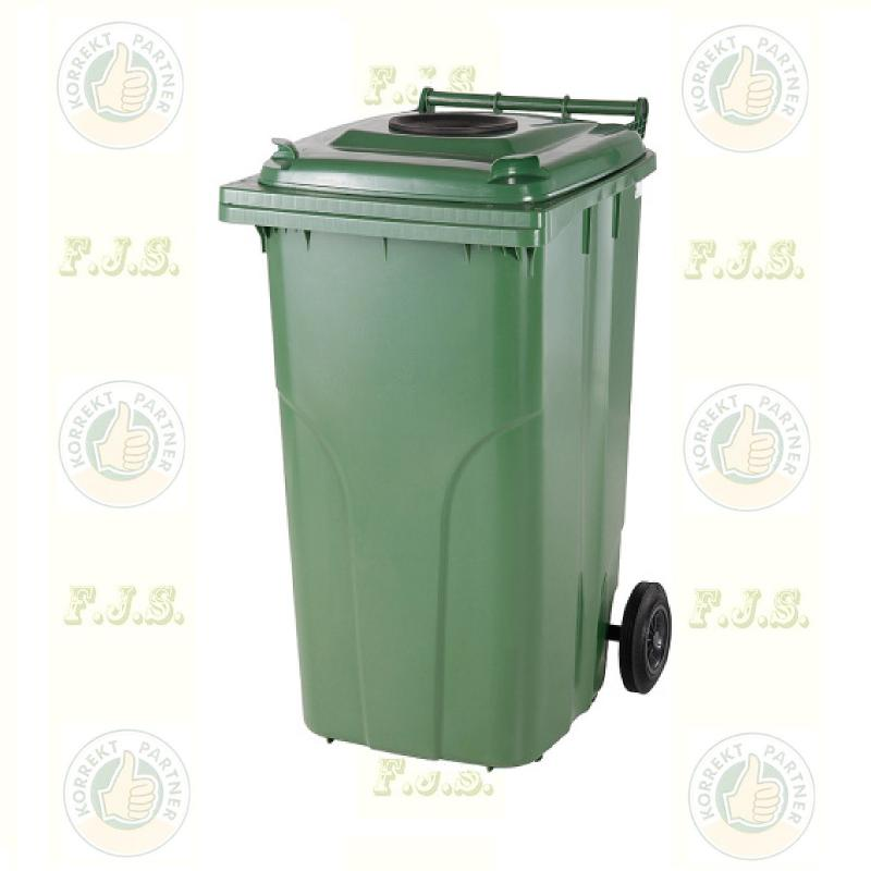 Kuka 120 l. zöld szelektív üveg szemetes hulladékgyűjtő műa.