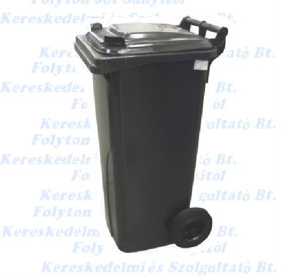 Kuka 140 l. fekete hulladéktároló műanyag 140l. kültéri szemetes