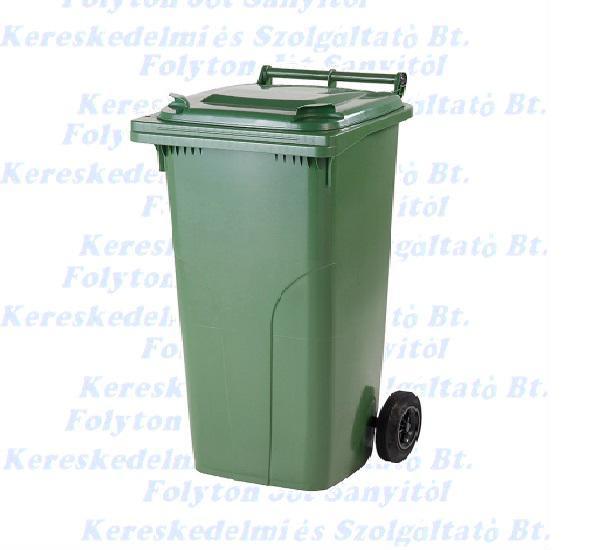 Kuka 140 l. zöld hulladéktároló műanyag 140l. kültéri