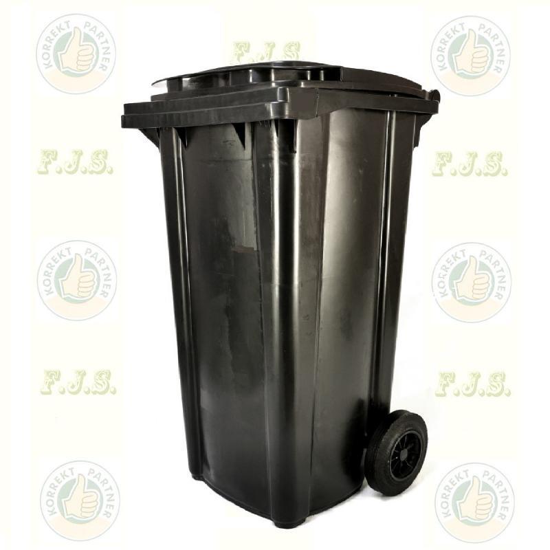 Kuka 240 l. fekete (antracit) hulladéktároló műanyag 240l. szemetes CE kültéri (MUTA)