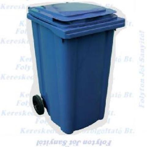 Kuka 240 l. kék hulladéktároló műanyag 240l. CE kültéri szemetes (MUTA)