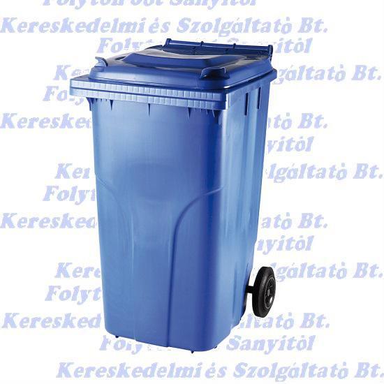 Kuka 240 l. kék hulladéktároló műanyag 240l. kültéri