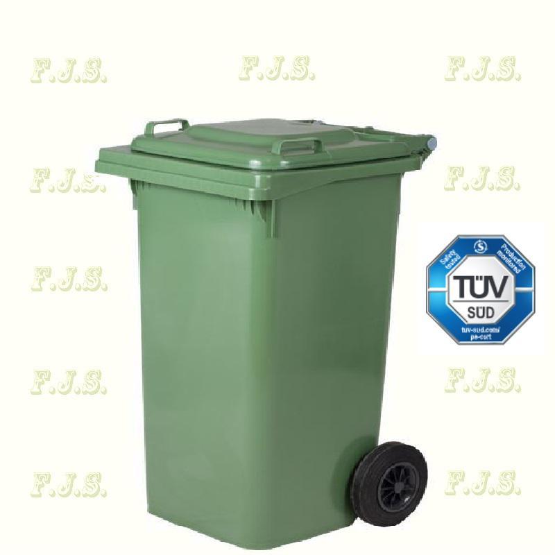 Kuka 240 l. Olasz zöld kültéri szemetes CE