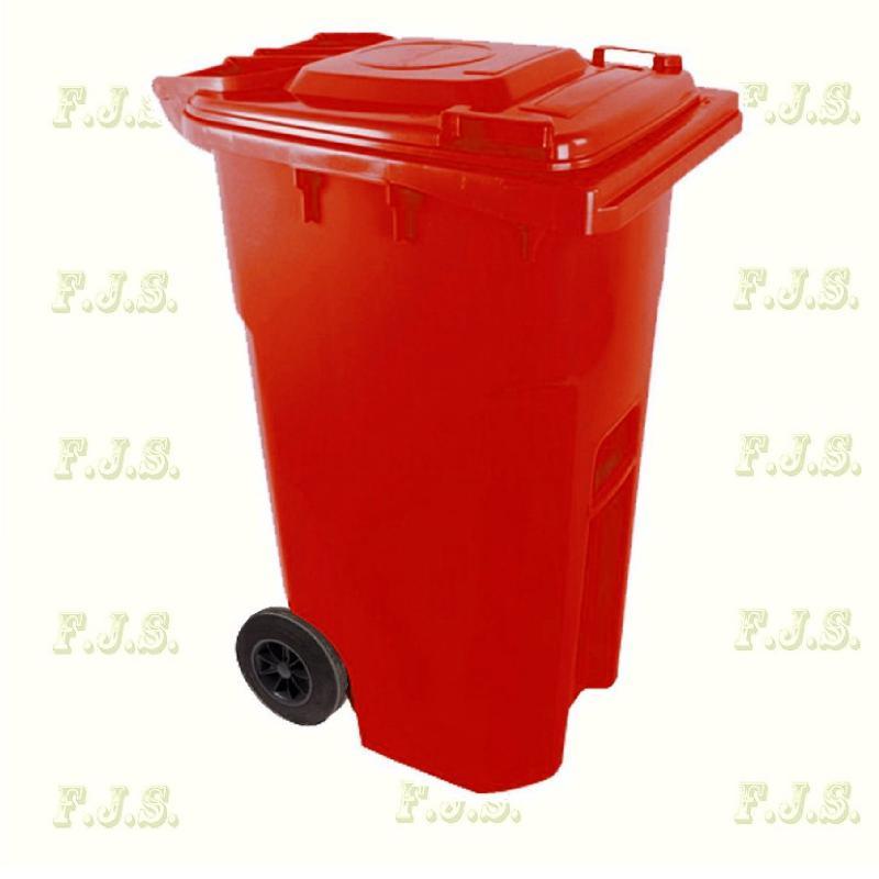 Kuka 240 l. piros hulladéktároló műanyag 240l. CE kültéri szemetes (MUTA)