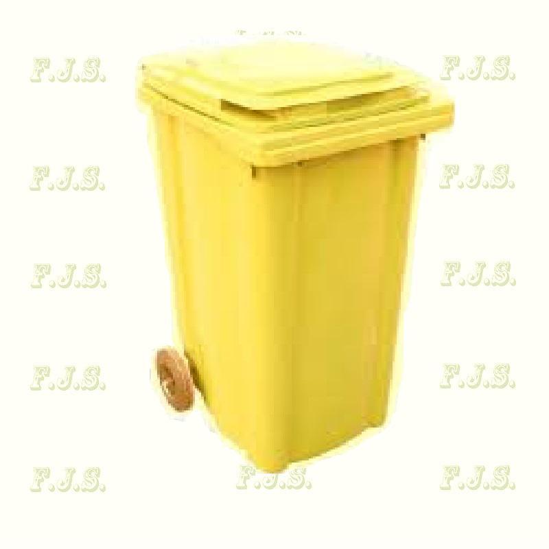 Kuka 240 l. sárga hulladéktároló műanyag 240l. CE kültéri szemetes (MUTA)