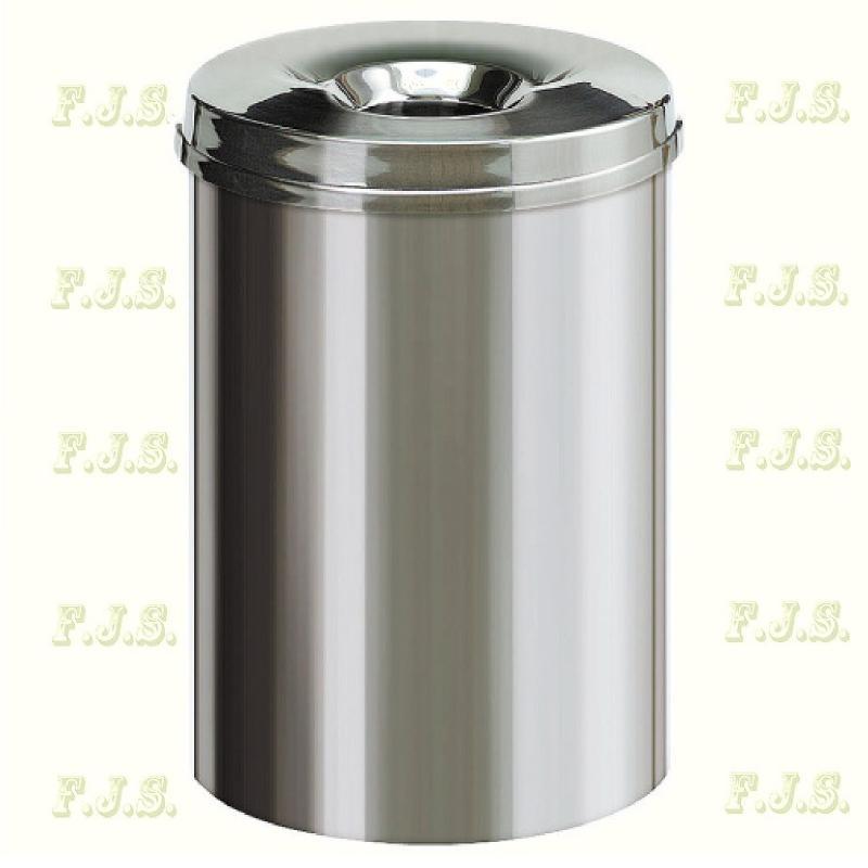 Kuka 30 l. Rozsdamentes acél beltéri önoltó szemetes CE