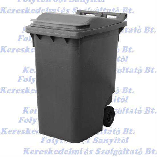 Kuka 360 l. fekete hulladéktároló műanyag 360l. kültéri szemetes