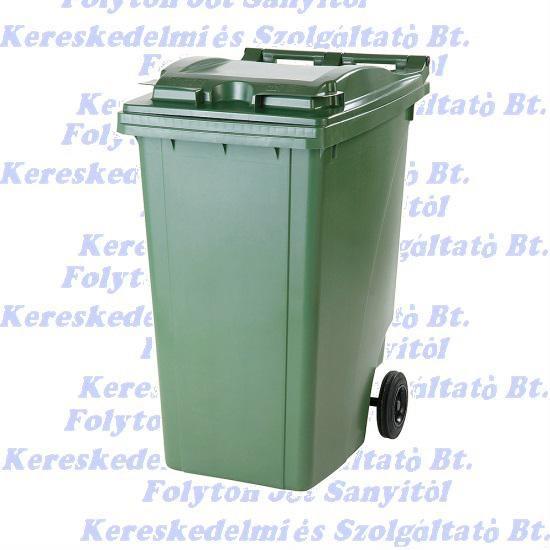 Kuka 360 l. zöld kültéri szemetes CE
