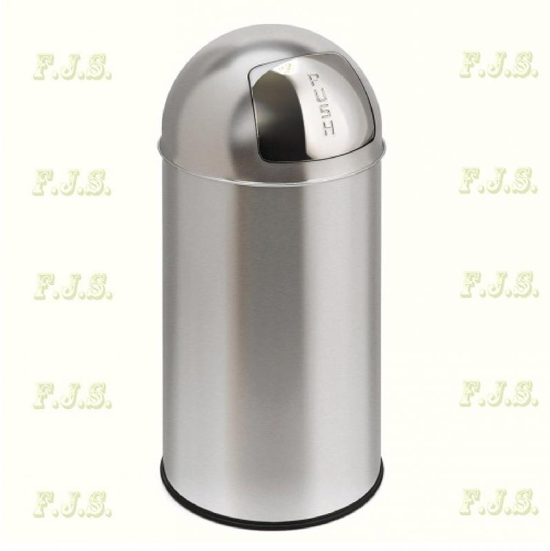 Kuka 40 l. Krómozott acél beltéri, Rugós billenő nyílással, fém betéttel szemetes