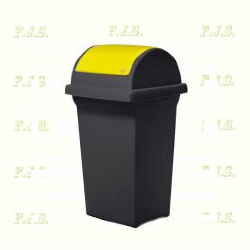 Kuka 50 l Kül- és beltéri szemetes CE sárga billenős fedéllel ICS