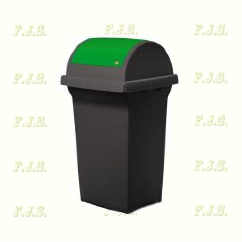 Kuka 50 l Kül- és beltéri szemetes CE zöld billenős fedéllel ICS