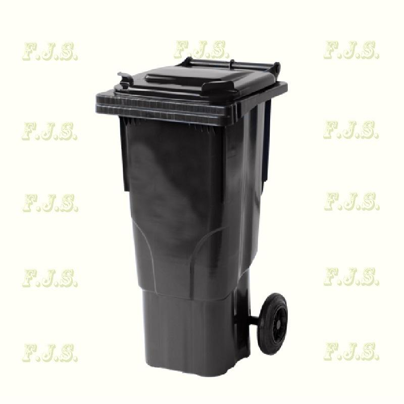 Kuka 60 l. fekete hulladéktároló műanyag 60l. kültéri szemetes