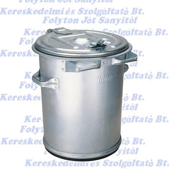 Kuka 70 l.  horganyzott fém hulladéktároló 70l. kültéri