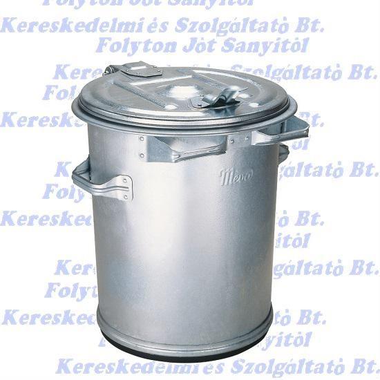 Kuka 70 l.  horganyzott fém hulladéktároló 70l. kültéri szemetes