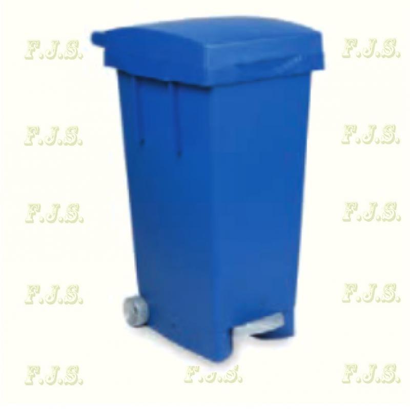 Kuka 80 l. kék pedálos hulladéktároló műanyag 80l. beltéri, kültéri szemetes