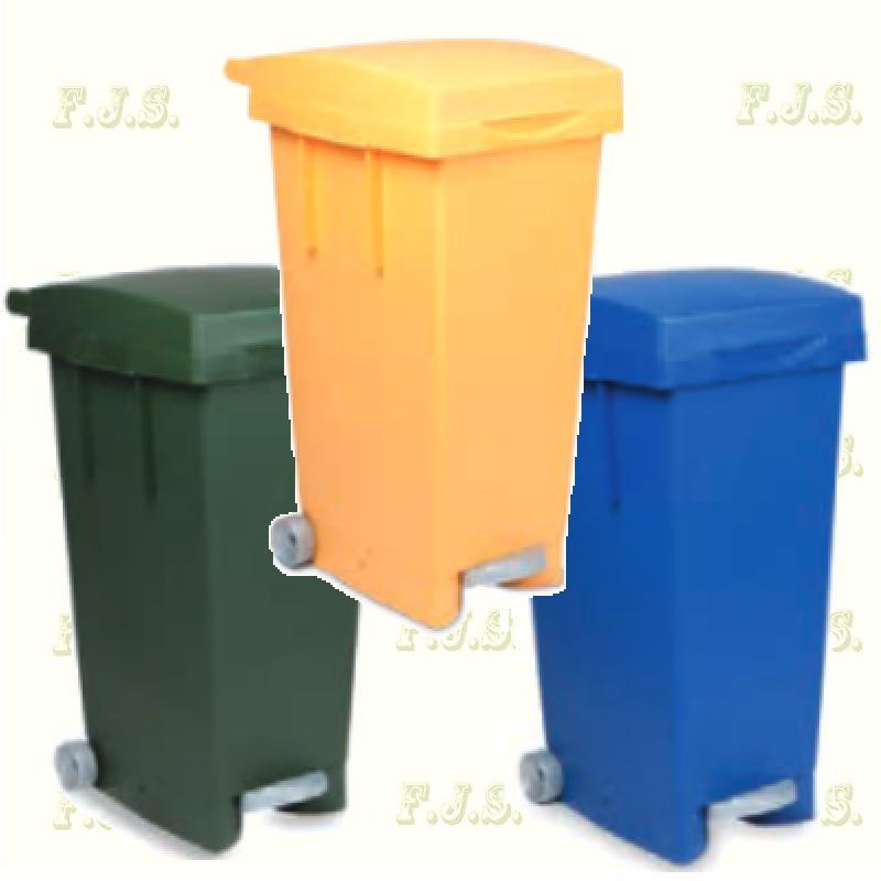 Kuka 80 l. kék,sárga és zöld pedálos hulladéktároló műanyag 80l. beltéri, kültéri szemetes