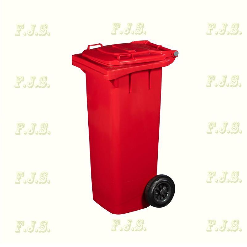 Kuka 80 l. piros hulladéktároló műanyag 80l. kültéri szemetes