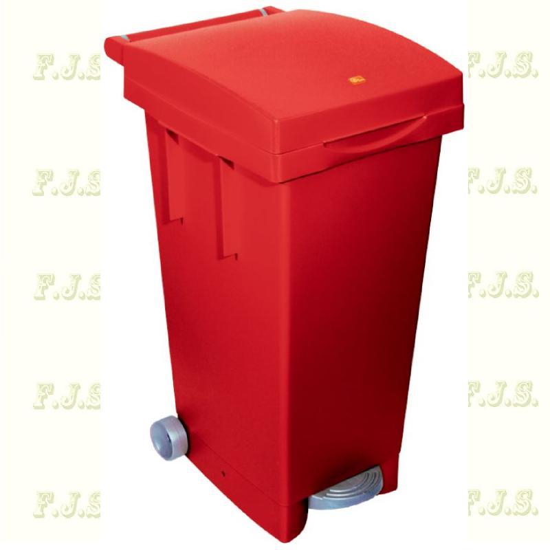 Kuka 80 l. piros pedálos hulladéktároló műanyag 80l. beltéri, kültéri szemetes
