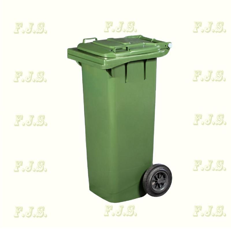 Kuka 80 l. zöld hulladéktároló műanyag 80l. kültéri szemetes