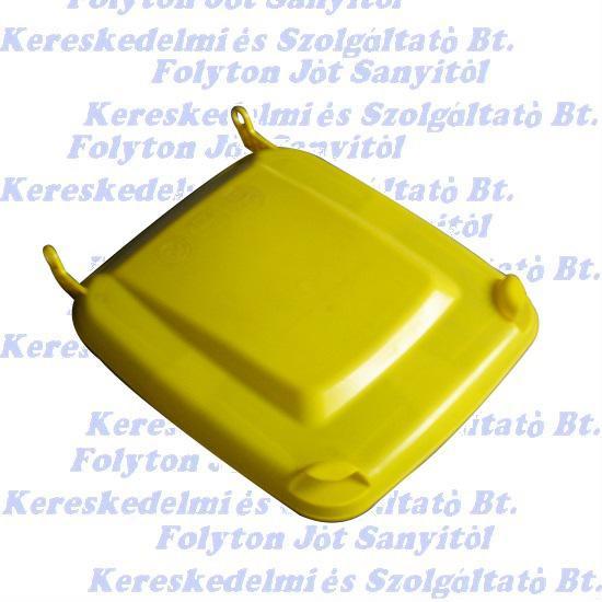 Kuka fedél sárga120l. szemetes Hulladéktárolóhoz CE