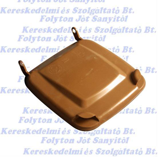 Kuka fedél szemetes Hulladéktárolóhoz barna 120l. (120 l.)
