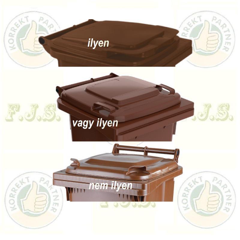 Kuka fedél szemetes Hulladéktárolóhoz barna fedél 120l. CE (120 l.)