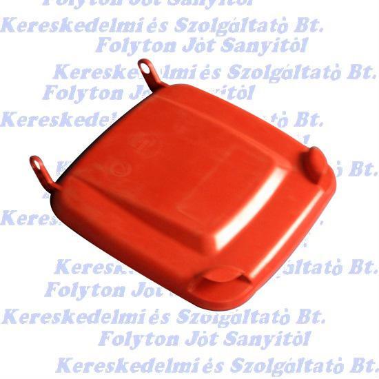 Kuka fedél szemetes Hulladéktárolóhoz piros 120l. (120 l.)