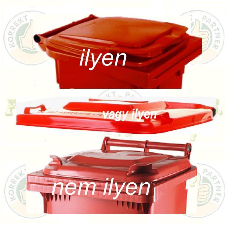 Kuka fedél szemetes Hulladéktárolóhoz piros fedél 120l. CE (120 l.)