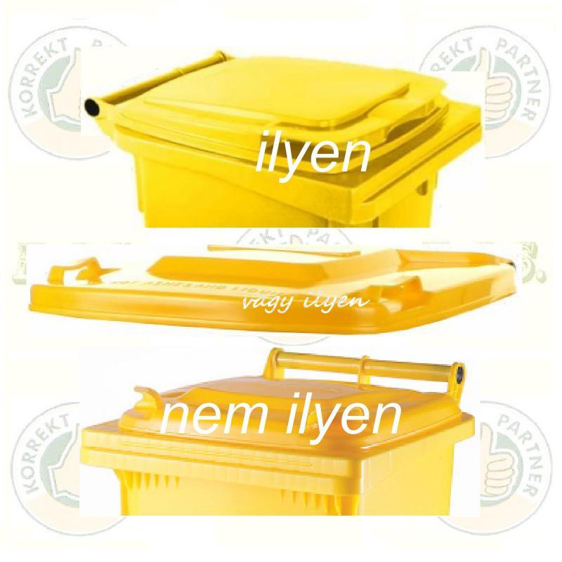 Kuka fedél szemetes Hulladéktárolóhoz sárga fedél 120l. CE (120 l.) Muta
