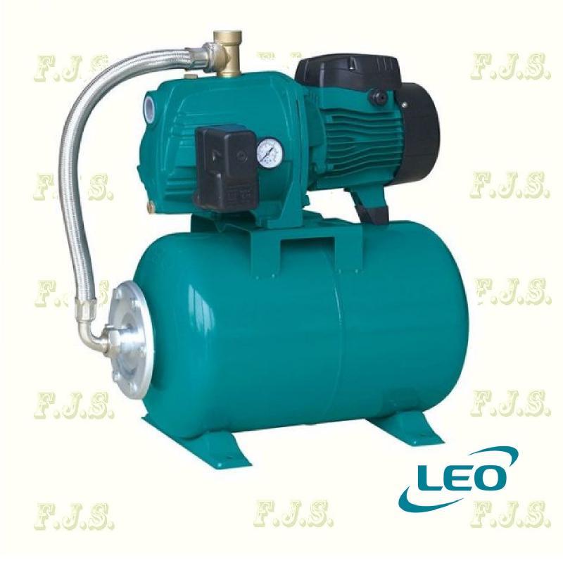 Leo hidrofor AJM 110-24CL 180/42 jet rendszerű, házi vízmű 20l tartály