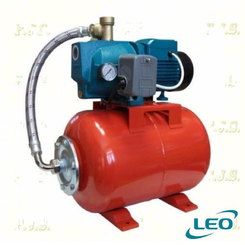 Leo hidrofor AJm 75-50 90/46 jet rendszerű, házi vízmű 50l tartály