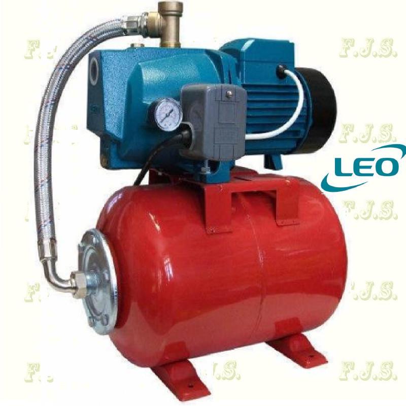 Leo hidrofor XKJ-600l 60/35-24cl jet rendszerű, házi vízmű 20l tartály